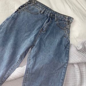 Chain side jeans